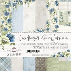 LADIES&GENTLEMEN - zestaw papierów 30,5x30,5cm