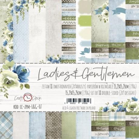 LADIES&GENTLEMEN - zestaw papierów 15,25x15,25cm