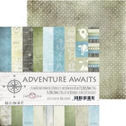 ADVENTURE AWAITS - 15.25 x 15.25 cm paper set