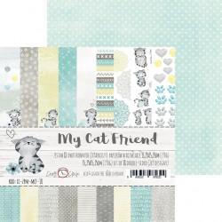 MY CAT FRIEND - zestaw papierów 15,25x15,25cm