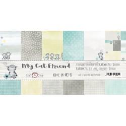 MY CAT FRIEND - zestaw papierów 30,5x30,5cm