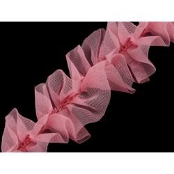 Taśma marszczona pudrowy róż 40 mm