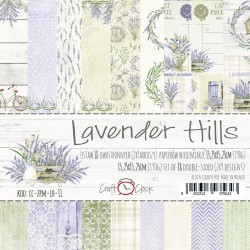 LAVENDER HILLS - A SET OF PAPERS 15.25X15.25CM