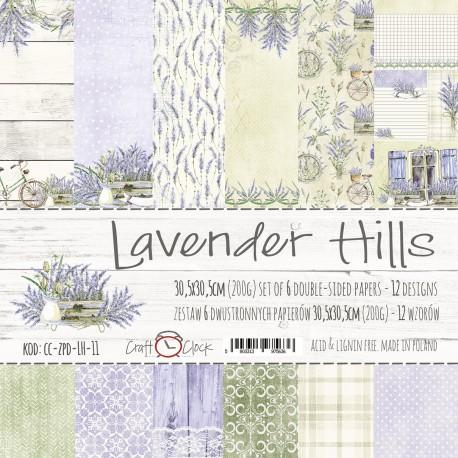 "LAVENDER HILLS - ZESTAW PAPIERÃ""W 30,5X30,5CM"
