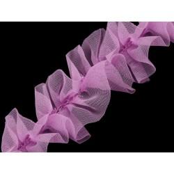 Taśma marszczona jasny fiolet 40 mm