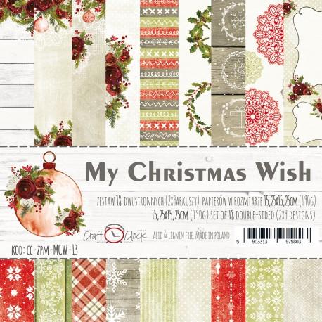 MY CHRISTMAS WISH - ZESTAW PAPIERÓW 15,25X15,25CM