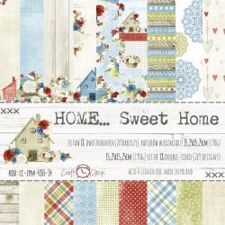 HOME... SWEET HOME zestaw papierów 15,25x15,25cm