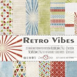 RETRO VIBES - zestaw papierów 30,5x30,5cm