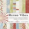 RETRO VIBES - zestaw papierów 15,25x15,25cm