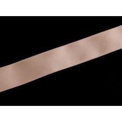 Wstążka Satynowa - kremowo - złota 25 mm 1mb