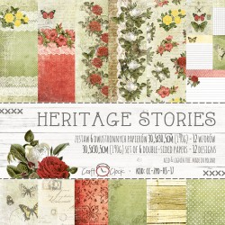 HERITAGE STORIES - zestaw papierów 30,5x30,5cm