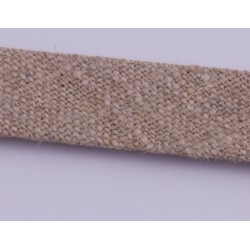 Lamówka LEN naturalna 18 mm 1mb