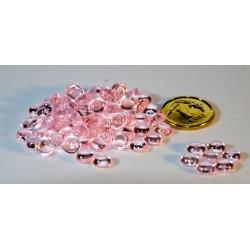 Krople akrylowe różowe 5mm opak.150szuk
