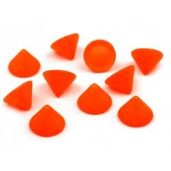 Ćwieki stożek 10 mm 20 sztuk - pomarańcz mat neonowy