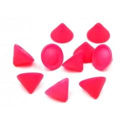 Ćwieki stożek 10 mm 20 sztuk - różowy neon