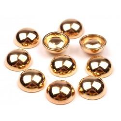 Ćwieki okrągłe Ø12mm - złoty 10 szt