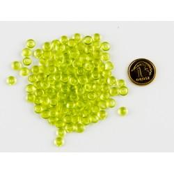 Krople akrylowe zielone 5mm opak.150szuk