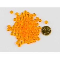 Krople akrylowe pomarańczowe 5mm opak.150szt
