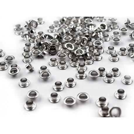 Nity metalowe - platyna 5mm 10sztuk