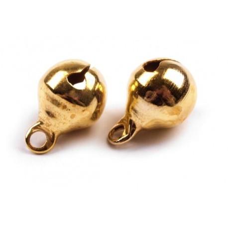 Dzwoneczki metalowe złote Ø8 mm - 5sztuk