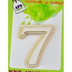 """Tekturka warstwowa cyfra """"7"""""""
