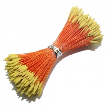 Pręciki pomarańczowo żółte 100szt