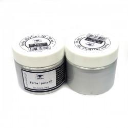Farba / pasta 3D SeeArt 50 ml. 01 perłowe srebro