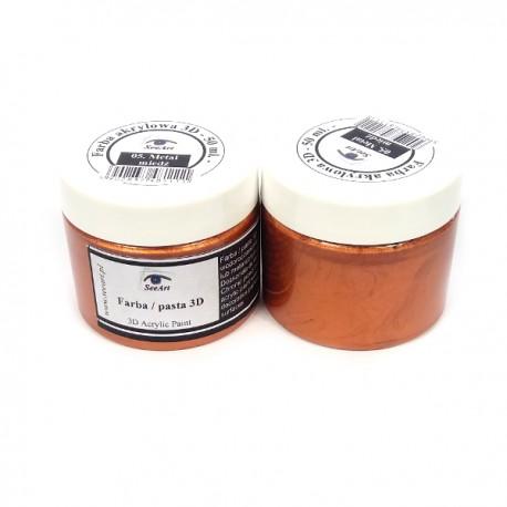 Farba / pasta 3D SeeArt 50 ml. metal miedz
