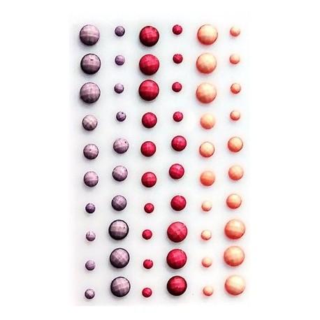 Kryształki samoprzylepne, 60sztuk Fiol-Czer-Łos