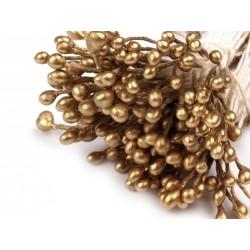 Pręciki do kwiatów złote 100szt
