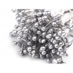 Pręciki do kwiatów srebrne 100szt