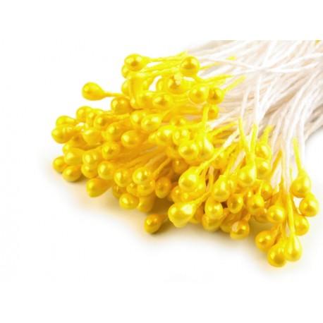 Pręciki do kwiatów żółte 100szt
