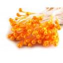 Pręciki do kwiatów pomarańczowe 100 szt