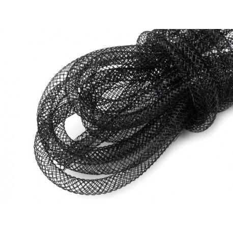 Krynolina modniarska tuba czarna Ø4,5mm 1mb