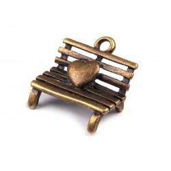 Zawieszka ławka z sercem