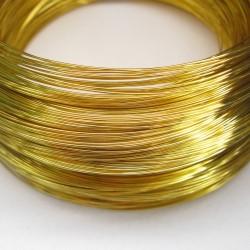 Drut złoty/mosięzny 0,4mm