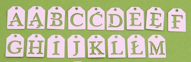 Wykrojnik z polskim alfabetem