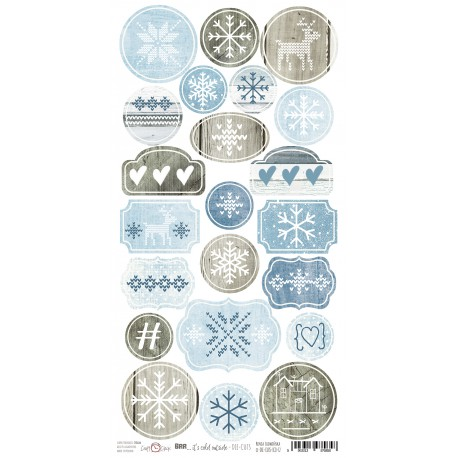 BRR... IT'S COLD OUTSIDE - ARKUSZ DIE - CUTS