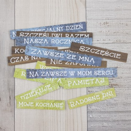 ... AND REMEMBER - Zestaw Napisy - DIE - CUTS