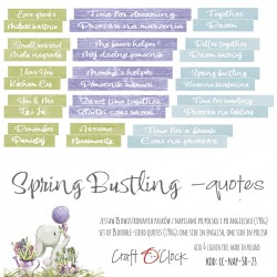 SPRING BUSTLING - NAPISY - DIE - CUTS