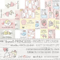 SWEET PRINCESS - ZESTAW KART DO PROJECT LIFE
